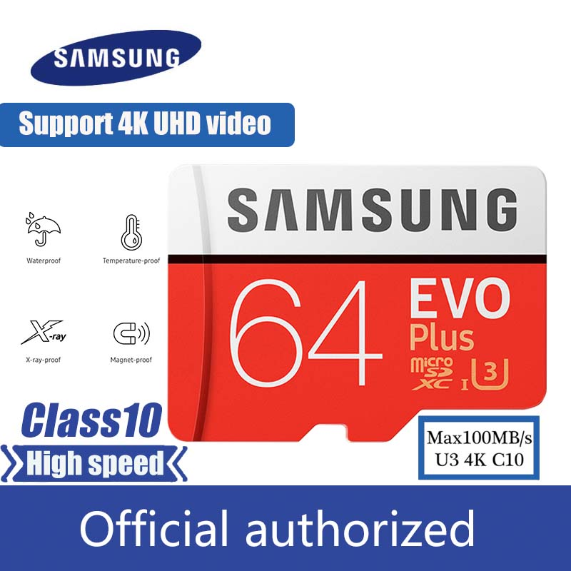 Samsung Micro SD Card 32GB 64GB 128GB 256GB SDHC SDXC Carte Microsd  Max100M/s Memory Card Class10 U3 4K Flash TF Card
