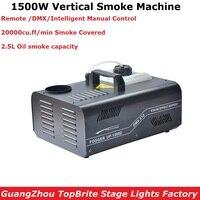 Бесплатная доставка 1500 Вт DMX противотуманная машина вертикальная дымовая машина Профессиональное осветительное оборудование ди джеев пок
