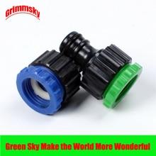2pcs/lot garden irrigation female thread 1/2 3/4 tap faucet drip connectors