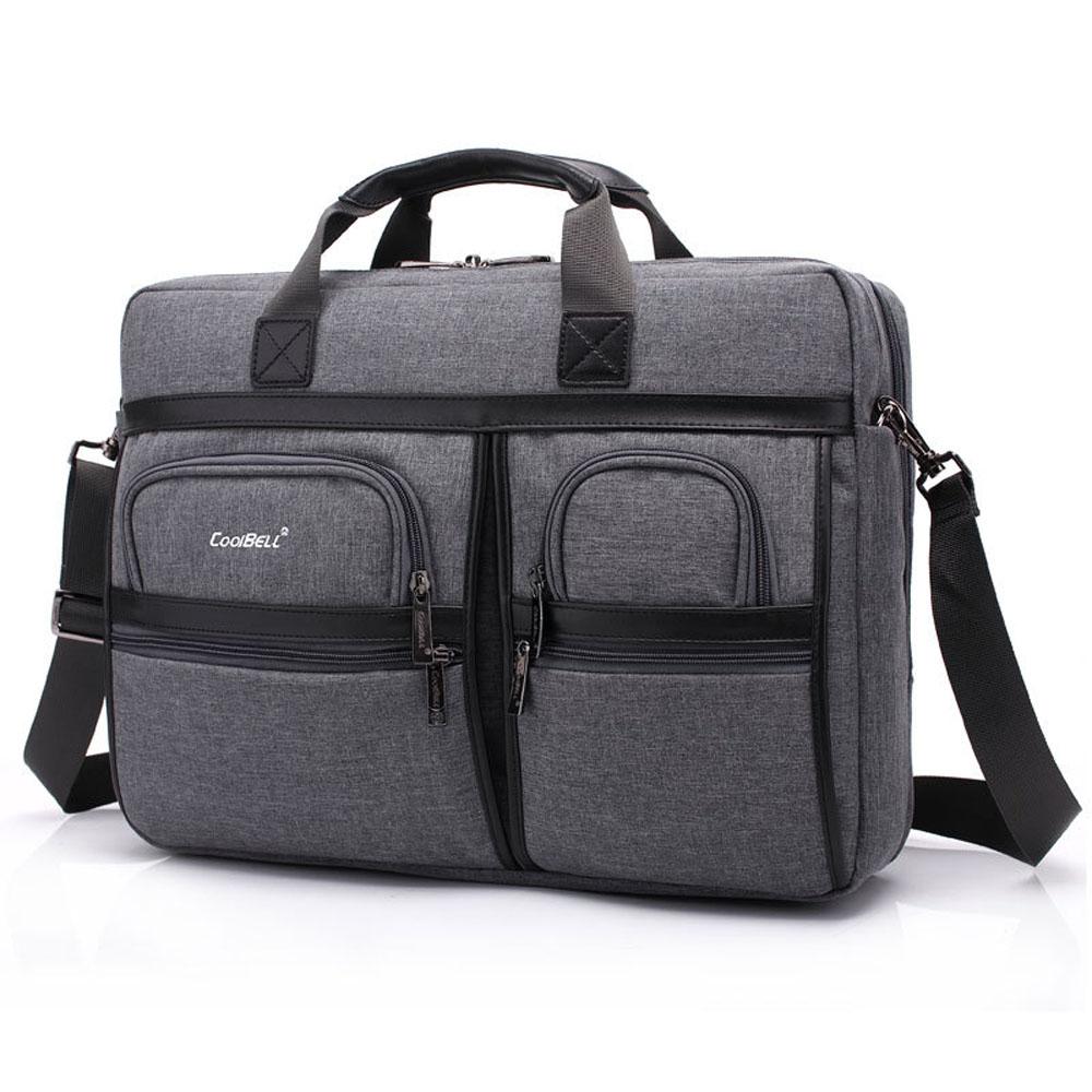 все цены на Coolbell 17.3 inch Laptop Business Handbag Shockproof Shoulder Messenger Bag Large Capacity Briefcase for Macbook HP Acer Lenovo онлайн