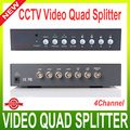 4CH Color Video Quad Splitter Processor for CCTV System