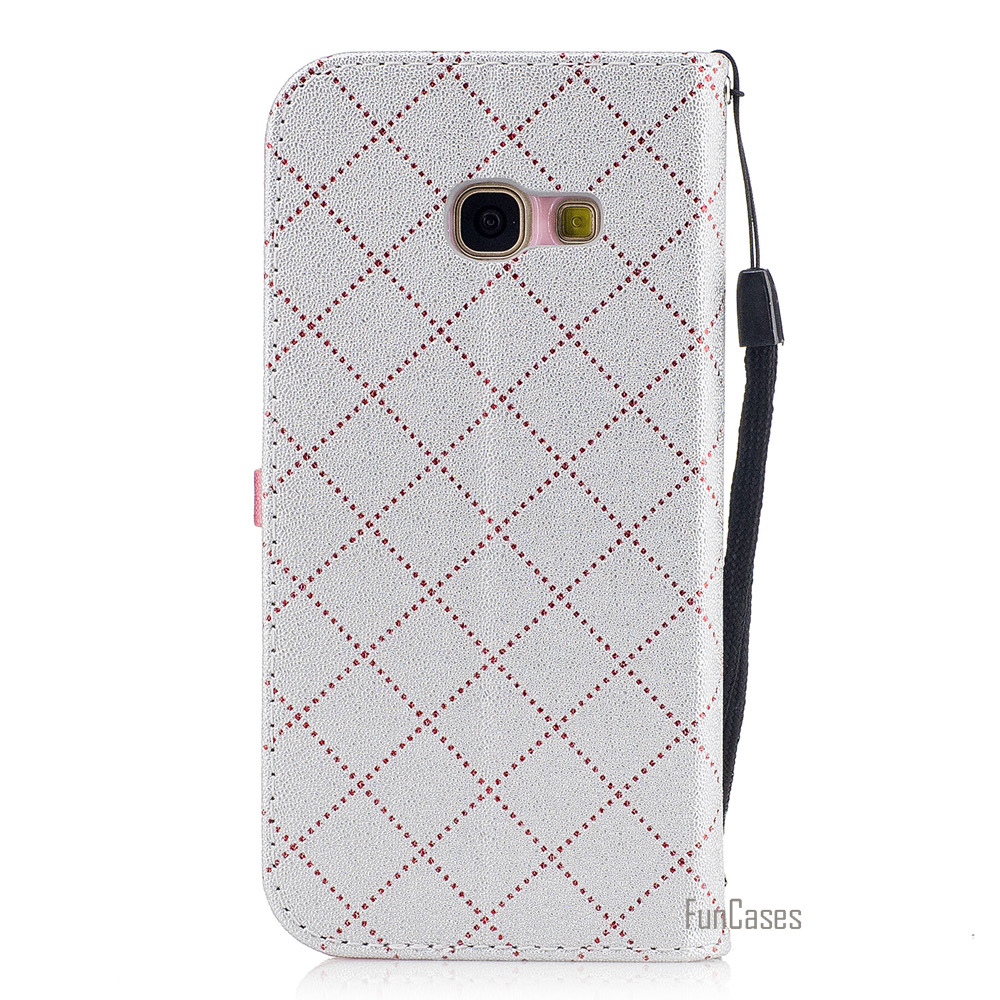Hot 2017 Multicolor PU Leather Case For Samsung Galaxy A3 2017 Love Heart Flip Protection For Samsung A320 Telefono Movil Caso