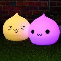 Alkış USB LED Gece Lambası Lamba Yatak Kidsroom Için Silikon Yumuşak Waterdrop Gece Lambaları Ile 24 Anahtar Uzaktan Kumanda