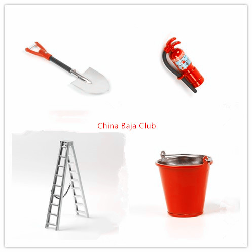 alloy decoration, shovel, bucket, miter ladder, fire extinguisher for TRAXXAS TRX4 SCX10 90046 90027 rc4wd D90 D110 crawler car ...