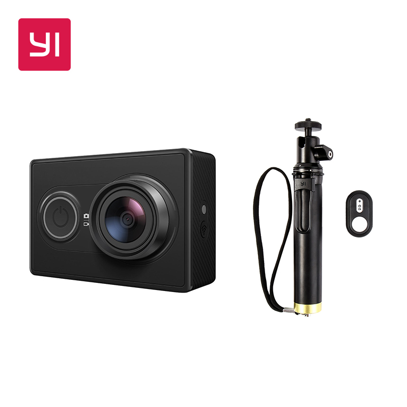 YI 1080P Action Camera Set With Waterproof Case High Definition 16 0MP 155 Degree Angle 3D