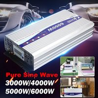 Intelligent Solar Pure Sine Wave Inverter 12V/24V To 110V 3000W/4000W/5000W/6000W Power Converter