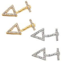 Chic Earrings Women Alloy Crystal Rhinestone Triangle Hollow Ear Drop for Women Girls Wedding Holiday Party Club Earrings недорого