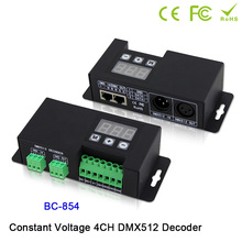 BC-854/BC-854-CC Led CC/CV 4CH DMX512 Decoder DMX address led DMX512 controller DMX512 signal drive for led lamp light цена 2017