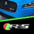 1 ШТ. Jaguar RS Передний Капот Решетка Монтажный Хром Значок RS Решетка Эмблема для XK XJ XF XFR RS
