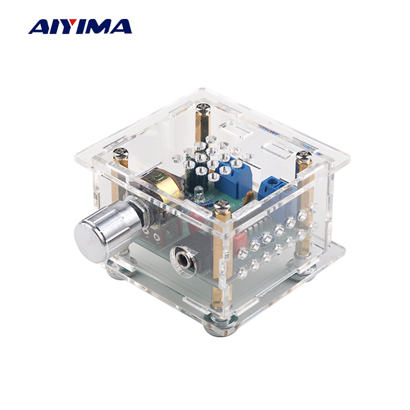 Aiyima USB Mini Power Amplifier Board 5Wx2 HIFI Two Channel CM2038 Audio Amplifier Board DC5V With Case power audio 4channels amplifier blue board amplifier with 3300uf capacitors