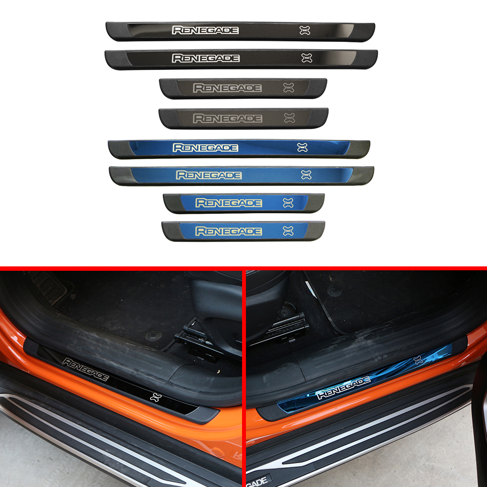 Stickers-Accessories Strip-Covers Decoration Car-Door Jeep Renegade Stainless-Steel Car-Styling