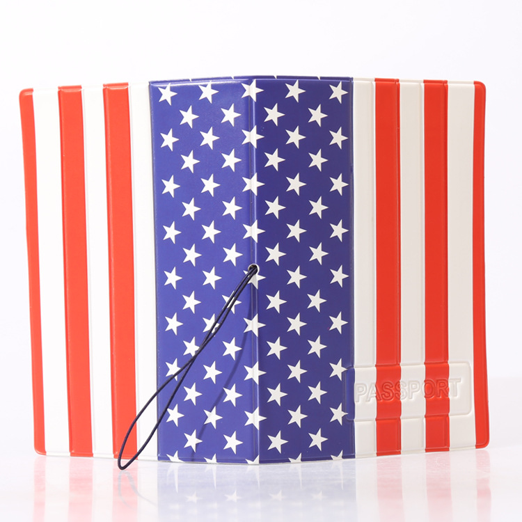 Hot Overseas travel accessories passport cover, luggage accessories passport card-The national flag