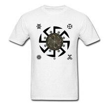 Mens T Shirt Mexico Kolovrat Symbol Tshirt Legend of Sparta Warrior White Cool 3D Print Movie T-Shirts Russia