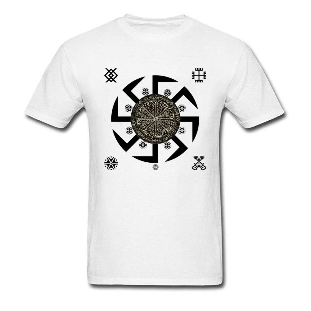 Men's   T     Shirt   Mexico Kolovrat Symbol Tshirt Legend of Kolovrat Sparta Warrior White   T     Shirt   Cool 3D Print Movie   T  -  Shirts   Russia