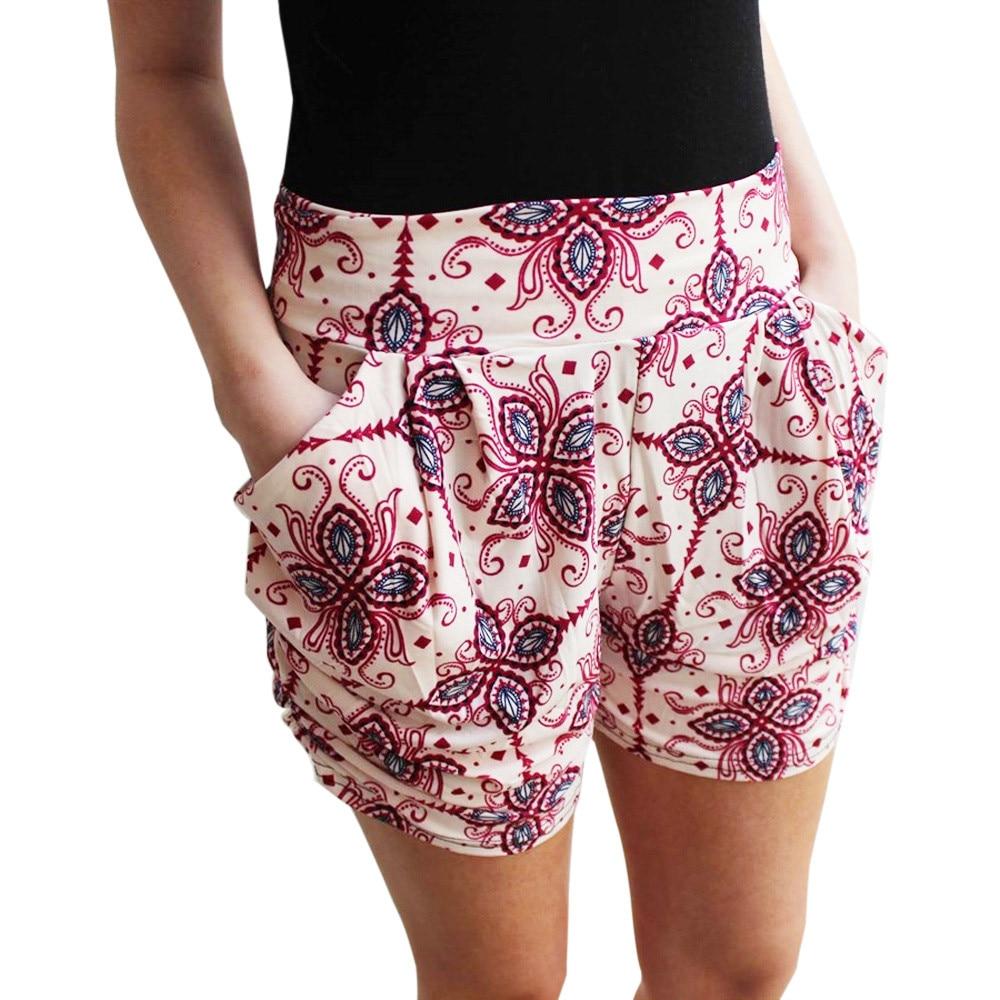 Feitong Women Floral Printing High Waist Lace Shorts 2018 Summer Casual High Quality Short Pants Fashion Short Feminino