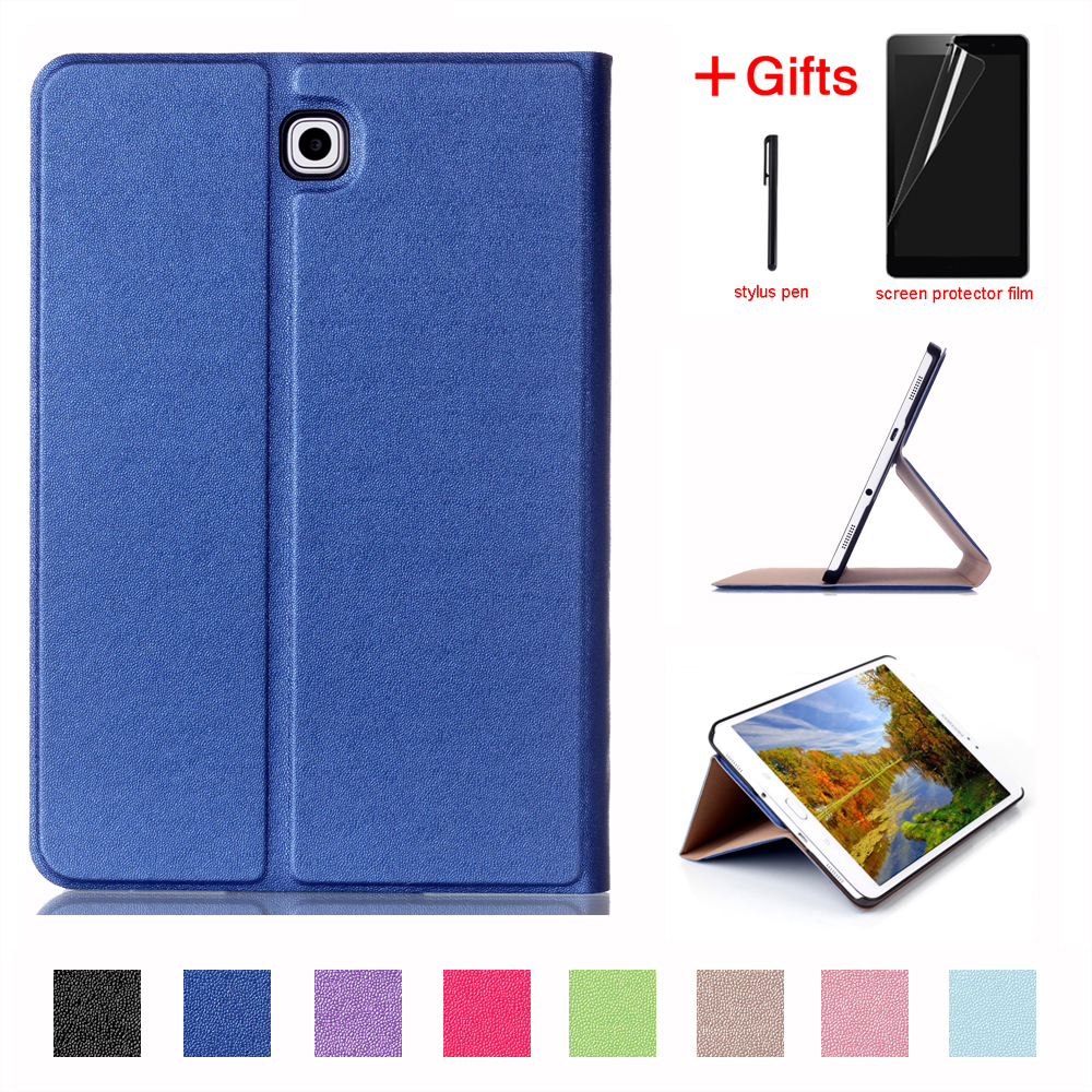 PU Leather Case For Samsung Galaxy Tab S2 8.0 SM T710 T715 T713 T719 Stand Smart Cover for Samsung Galaxy Tab S2 8.0 case ultra thin bluetooth keyboard case for 8 inch samsung galaxy tab s2 8 sm t713 tablet pc for samsung tab s2 8 sm t713 keyboard