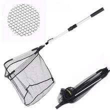 Fishing Net Fish Landing with Foldable Collapsible Telescopic Pole Handle Durable Nylon Material Mesh for Safe
