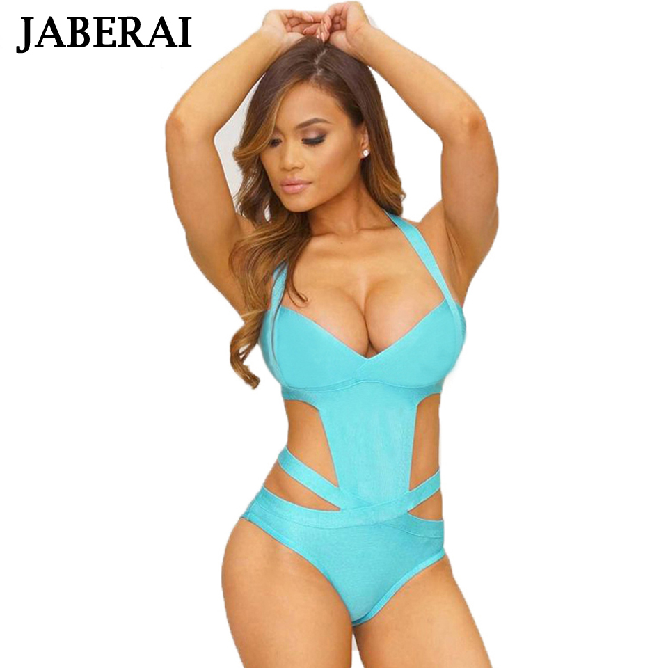 JABERAI 2017 Sexy One Piece Swimsuit Plus Size Swimwear Women Bandage Monokini Swimsuit Bathing Suit Summer Swim Wear Black X001 andzhelika 2017 women dress one piece swimwear swimsuit sexy v neck swim polka dot bodysuits plus size bathing suit monokini