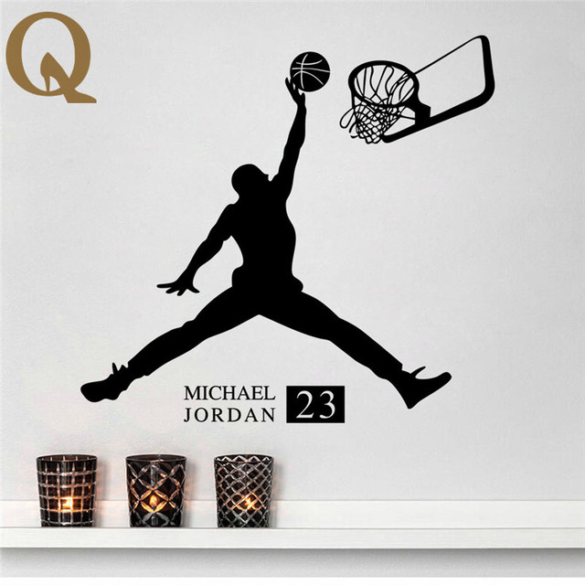 2017 michael jordan basketball inspirational wall sticker citations stickers art mural basketball wall stickers for kids