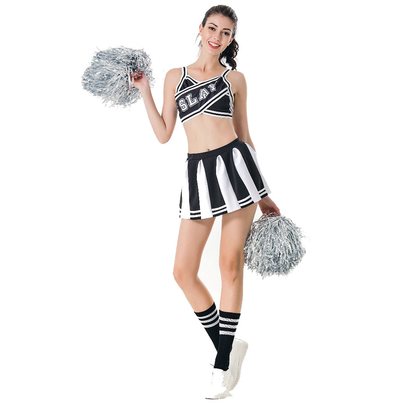 2c5dff0c216 US $16.1 20% OFF|MOONIGHT Sexy High School Cheerleader Costume Cheer Girls  Uniform Party Outfit Fancy Dress Dance Performance Clothing Costume-in ...