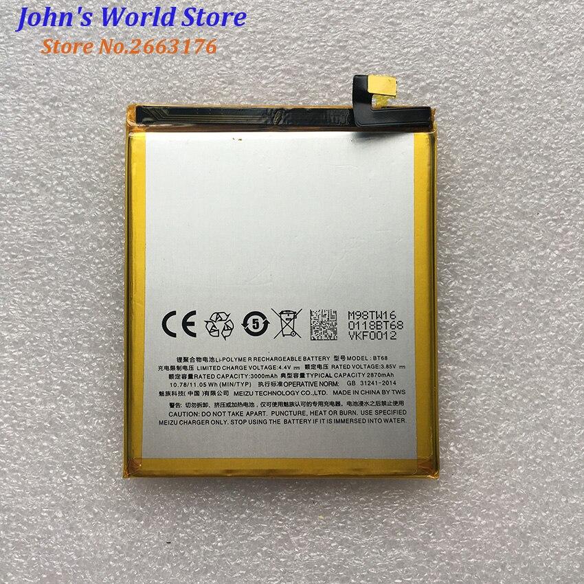 Meizu M3 mini BT68 2800 mAh batería de alta calidad reemplazo de batería de reserva para Meizu M3 mini teléfono inteligente