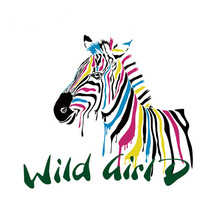 10pcs/lot Iron-On Transfer Wild Zebra New Design Print On T-Shirt Washable Clothes Decoration Diy Accessory Appliques
