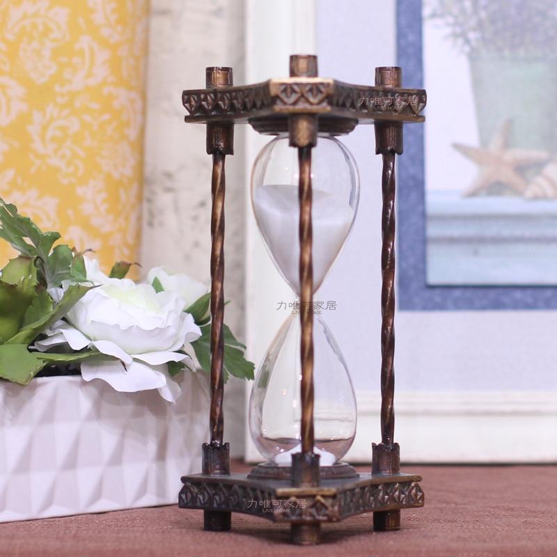 Sablier en résine bronze profond classique rétro nostalgie 30 minutes pour faire les vieux cadeaux