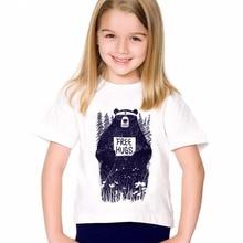 TEEHEART Newest Boys/girlss Modal T-shirt Fashion Free Hugs Bear Printed 18M-10T Children Summer T shirts Casual Clothing TA611