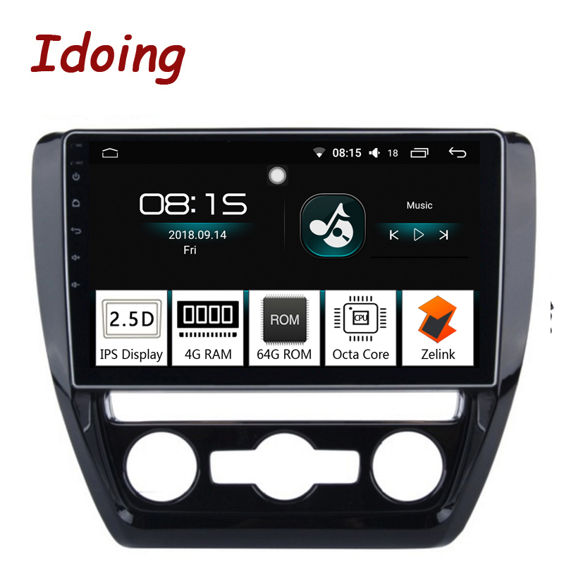 Idoing 10.24G+64G Octa Core Car Android8.0 Radio Vedio Multimedia Player Fit VW 2011-2015 2.5D IPS Screen GPS NavigationIdoing 10.24G+64G Octa Core Car Android8.0 Radio Vedio Multimedia Player Fit VW 2011-2015 2.5D IPS Screen GPS Navigation