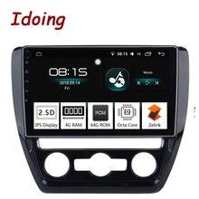 Idoing 10,2 «4 г + 64 г Восьмиядерный автомобильный Android8.0 радио Vedio мультимедийный плеер подходит VW Jetta 2011-2015 2.5D ips экран gps навигация