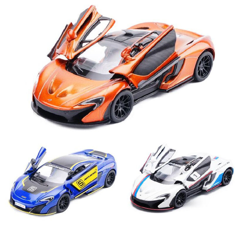 High Simulation 1:36 McLaren P1 675LT Alloy Car Model Diecast Two Door Sports Car With Pull Back For Kids Gifts