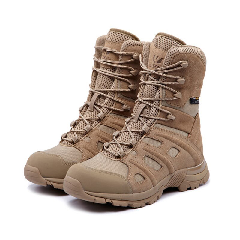 Shoes Men Sneakers Leather Waterproof Breathable Army Tactical Military Boot Outdoor Sport Desert Climbing Trekking Hiking