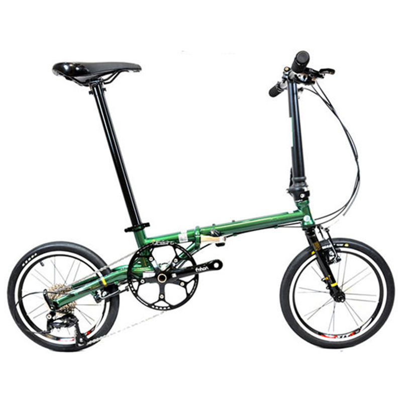 "Fnhon Gust CR MO Steel Folding Bike 16 305 349 Minivelo Mini velo Bike Urban Commuter Fnhon Gust CR-MO Steel Folding Bike 16"" 305 349 Minivelo Mini velo Bike Urban Commuter Bicycle V Brake 9 Speed"