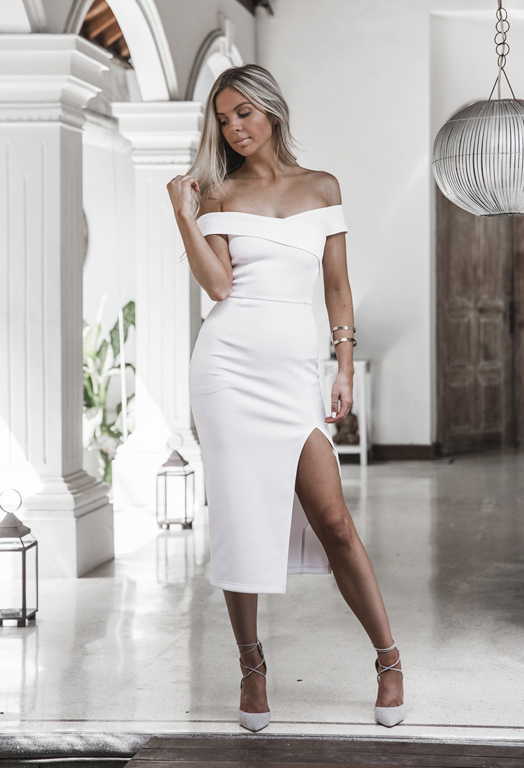 Vestidos 2017 New Style Summer Women Black White Dress Off Shoulder Sexy Casual Dress Slash Neck Knee Length Party Dresses 6