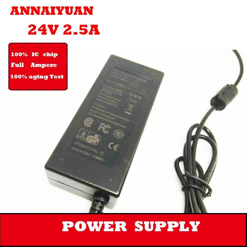 Tüketici Elektroniği'ten AC/DC Adaptörler'de Ücretsiz kargo dizüstü bilgisayar adaptörü monitör güç adaptörü 24 V 2.5A yüksek kalite adaptörü dizüstü ve 5.2*2.5mm güç adaptörü title=