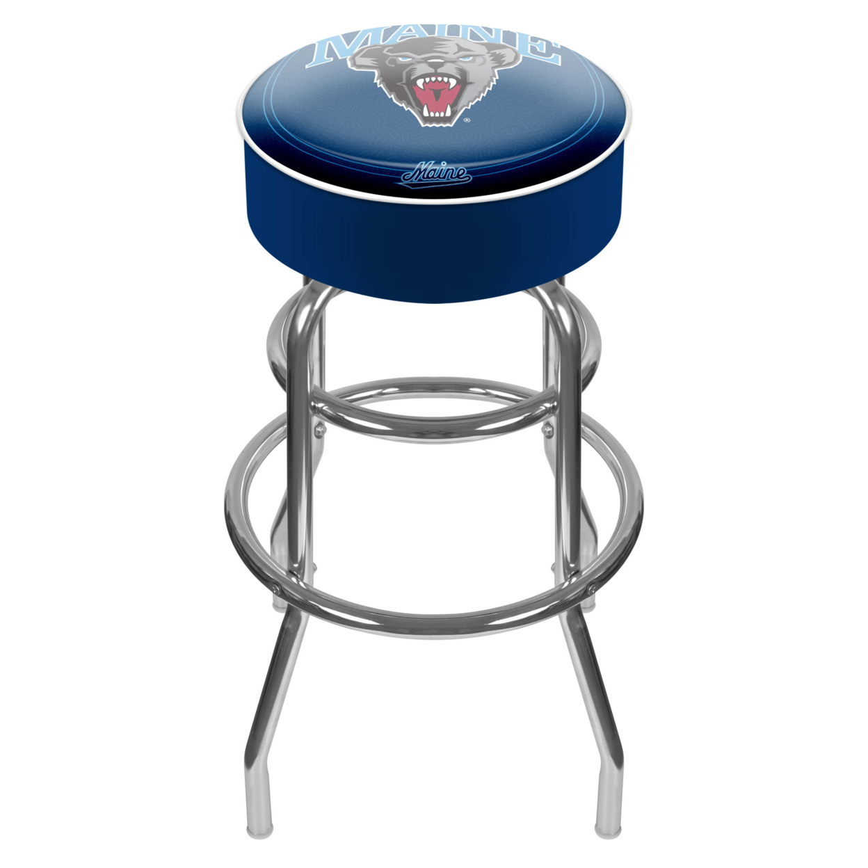 University of Maine Padded Swivel Bar Stool 30 Inches High