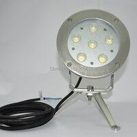 CE RoHS IP68 316 нержавеющая сталь DC24V 18 Вт Цвет Светодиодные фонтан света Подводный