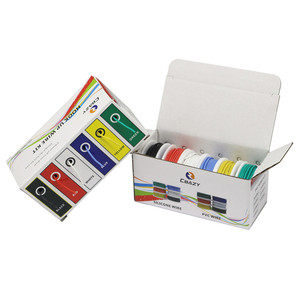 Image 4 - Cable de silicona flexible de 6 colores, 30/28/26/24/22/20/18awg, alambre de cobre estañado (kit de cable trenzado híbrido de 6 colores), cable DIY