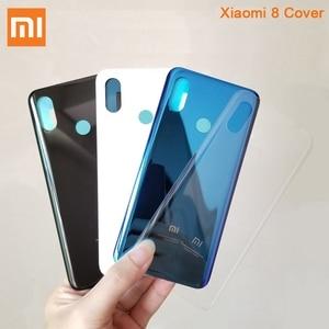 Image 3 - Original Glass Battery Rear Case For Xiaomi 8 MI8 M8 8SE Back Battery Cover Phone Battery Backshell Back Cover Cases