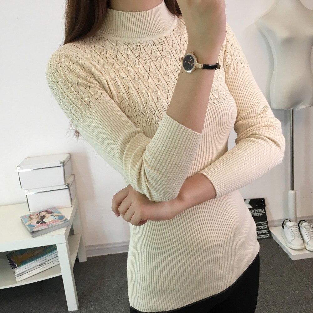 korean elegant knitted shirt jumper pullover sweater women winter ... e561133eb