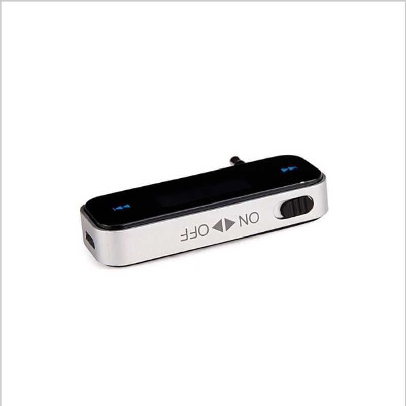 Mejor Precio transmisor de FM inalámbrico Mini coche LCD 3,5mm vehículo Kit de coche modulador de manos libres MP3 de Audio de música reproductor para cualquier coche