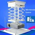 Fácil instalação bom preço projetor elevador 220 v a 240 v motorizado suporte de teto beamer gancho controle remoto sem fio