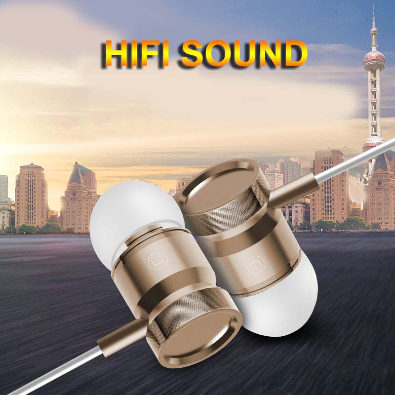 Headphone 3.5MM In-ear Wired Earphones HiFi Strong Bass With Mic for ASUS Fonepad ME371MG