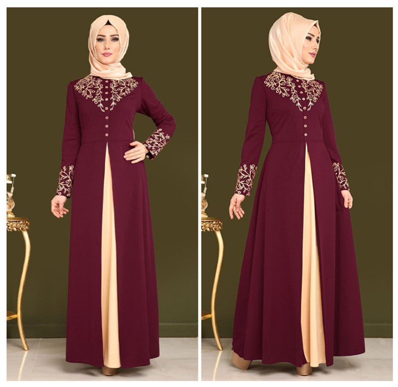 Abayas for women muslim dress women gamis muslim wanita robe dubai moslim jurken robe musulmane femme djelaba femme