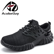 AD AcolorDay New Arrival Krasovki Breathable Shoes Lace Up Air Mesh Spring Mens Shoes Casual 2017 Light Comfortable Male Shoes