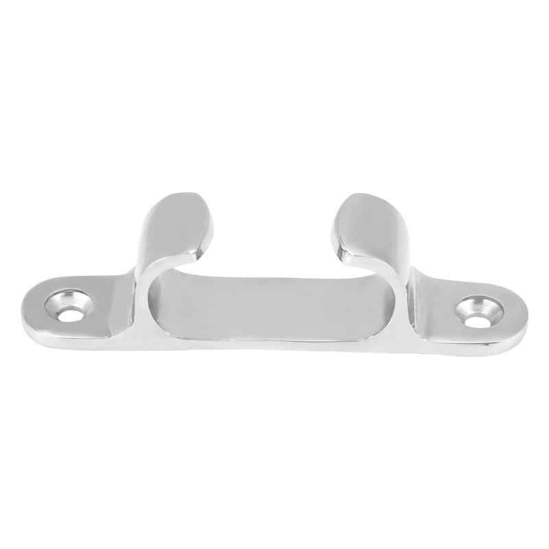 Suuonee Stainless Steel Fair Lead,4 Inch Stainless Steel Bow Chock Fair Lead Line Cleat Hardware for Marine Yacht