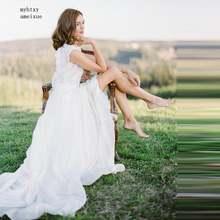 Женское свадебное платье простой скромный кружевной пляжный