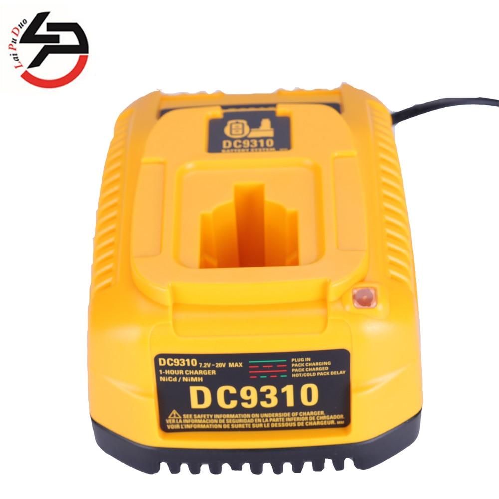 Para Dewalt Cargador de bater/ía dc9310/7.2/V-18/V bater/ía Ni-CD /& NI-MH DW9057/DC9071/DC9091/Cargador de batteia