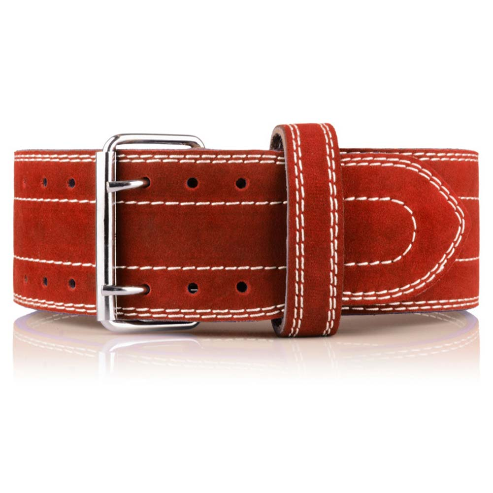 Four Layers Cowhide Leather Weightlifting Belt Waist Support Protection Gym Fitness Squats Back Weight Training BB55