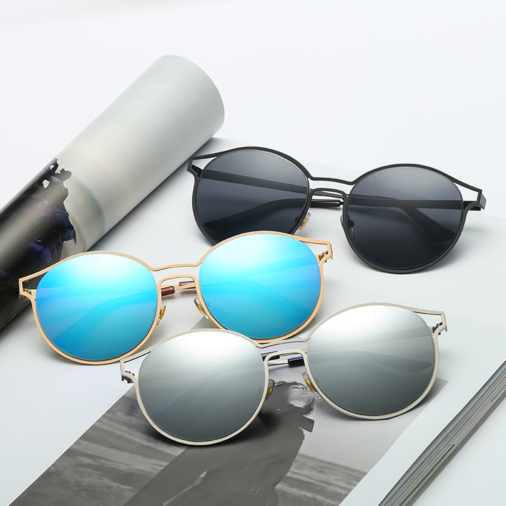 Luxury Cat Eye Sunglasses Women Brand Designer Points Sun Glasses Female Sunglasses Vintage Mirror Aviator Sunglass oculos de so